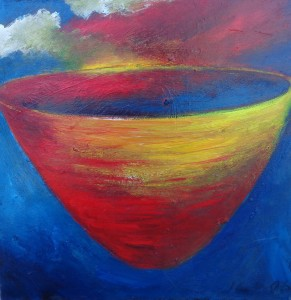1100 Little Red Yellow Bowl with Cloud