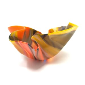 Shi324,小橙色垂褶碗