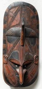 部落护身符面具,新几内亚化粪池河