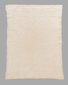 White Satin Whole Cloth Baby Quilt