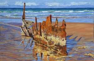 SS Dicky - Beached Remains - PRINT
