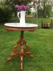 Renaiassance revival  accent marble top table