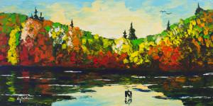 Woodland Hills Lake in Autumn