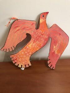 Glowforge 2-Sided Bird, Hanging 3