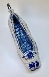 Blue and White Shoe
