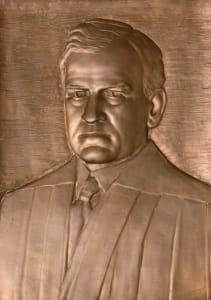 Bronze Portrait of Justice Clarke