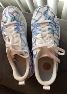 Art On Shoes Series/Collection/designs(Blue Swirl Wave