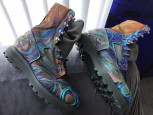 Art On Shoes Series/Collection/designs(Boots In Transformation).