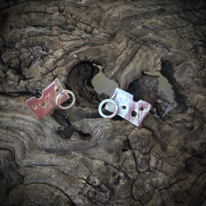 mbm3.   Handcrafted Silver Stud Earrings