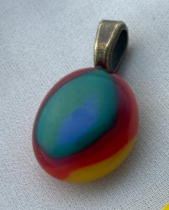 Fused glass pendant #72