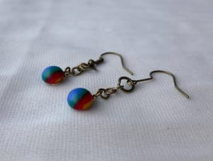 Fused Glass Earrings #34