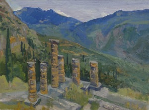 Temple of Apollo Ruins, Delphi, Greece