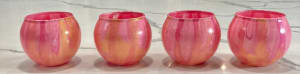 Candleholders, votive - Pink & Gold