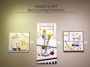 文字就是艺术第一件展品