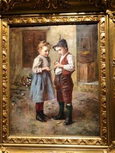 Street Scene with 2 children
