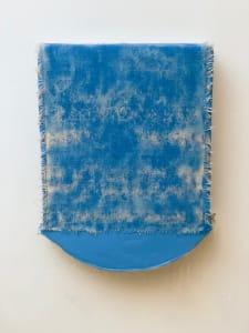 Bandage Painting (Blue curved bottom)