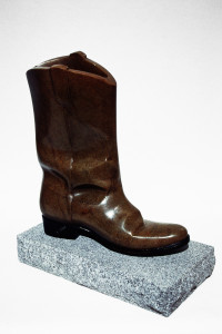 riding boot reproduction / brown