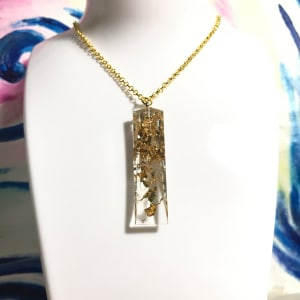 Gold Tapered Cube Necklace