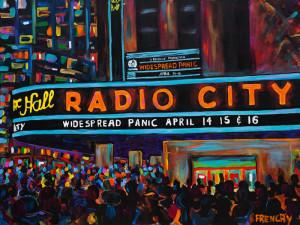 Widespread Panic Radio City Music Hall Marquee