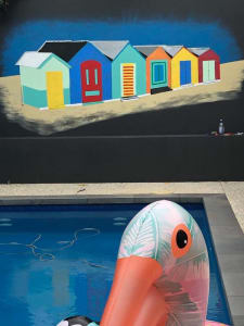 Pool Mural (Beach Huts)