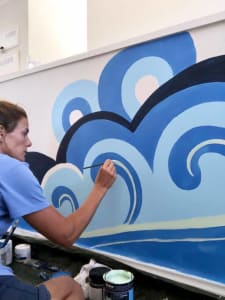 Wave & Bird Mural