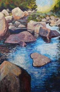 River, Rocks, Reflection