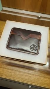 Horween Shell Cordovan Multicolor Cardholder with Stamp