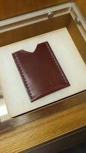 Horween Shell Cordovan Garnet Single Pocket Cardholder