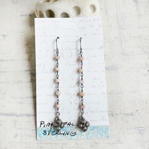 Opal & Sterling Drop Earrings