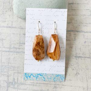 木化石耳环