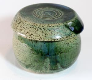 Green French Butter Dish