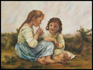 After Bouguereau's A Childhood Idyll
