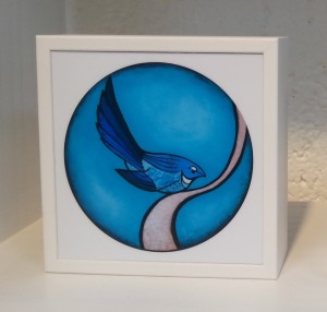 Art box - Turquoise fantail