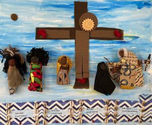 玛丽是我们之一,黑色男性身体的钉十字架