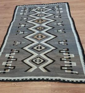 Two Gray Hills vintage Navajo rug