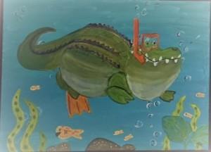 Diving Alligator