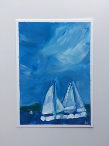 two white sails