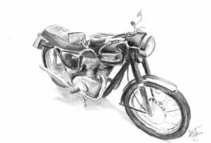 Motorbike (Triumph3) Commission