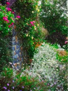 FLOWER CORNER IN GUERNSEY canvas print
