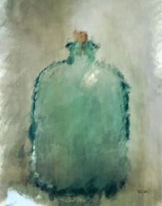 Green Glass Bottle - Still Life