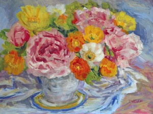 Peonies and Poppies Still Life Study