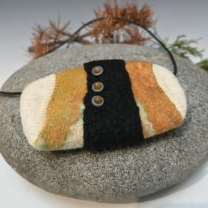 Hand-felted merino wool neckpiece