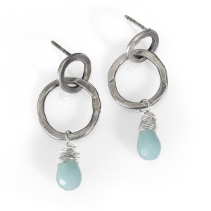 Forged Hoops with Amazoite