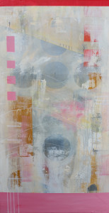 Cushioned - M D Hyde - 2016 - Acrylic on canvas - 50x100cm