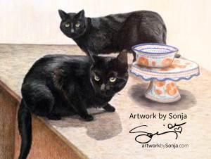 Black Cats Portrait