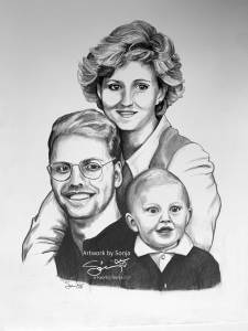 Family Portrait pencil Drawing