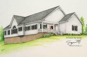 New Construction House Portrait