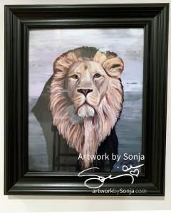 Ryan's Lion Framed Print