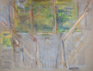 Study of Stairway, Burnsville, NC