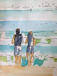 Wave-Watching Couple